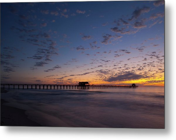 Naples Pier Magic Hour Metal Print