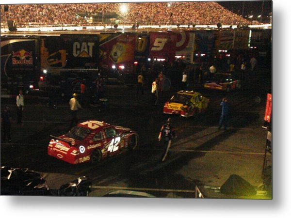 Nascar  - Juan Pablo Montoya Returns To Garages After Coke Zero 400 Metal Print