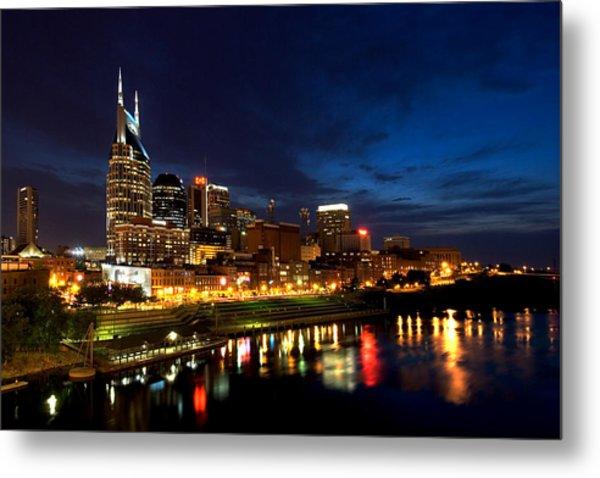 Nashville Skyline Metal Print by Mark Currier