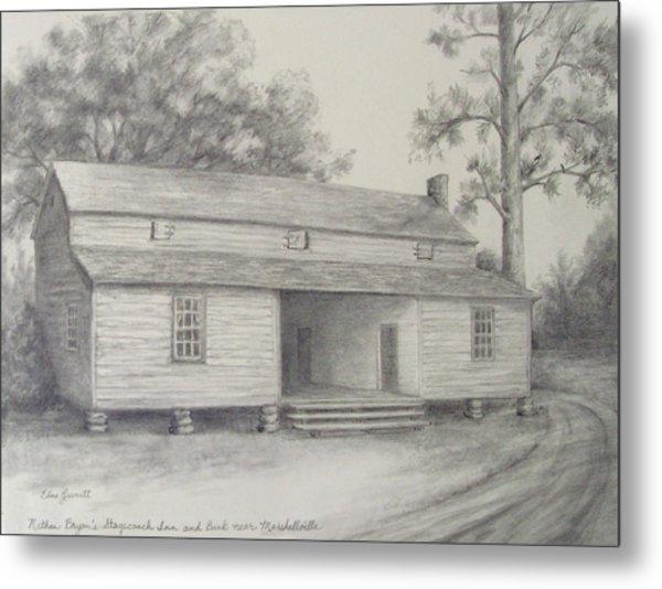 Nathan Bryan's Stagecoach Inn And Bank Near Marshallville Metal Print