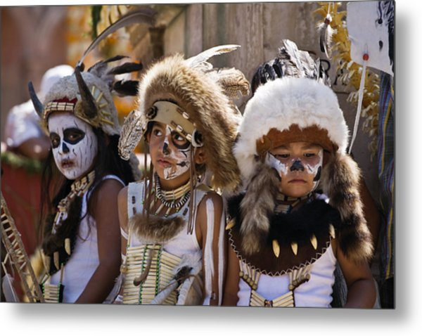 Native American Boys Metal Print