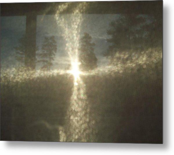 Natural Sun Cross Metal Print
