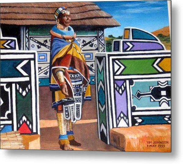 Ndebele Color Metal Print