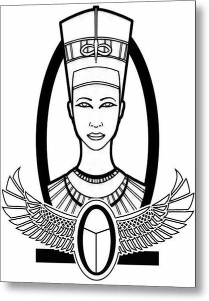 Nefertiti Metal Print by Alysa Sheats
