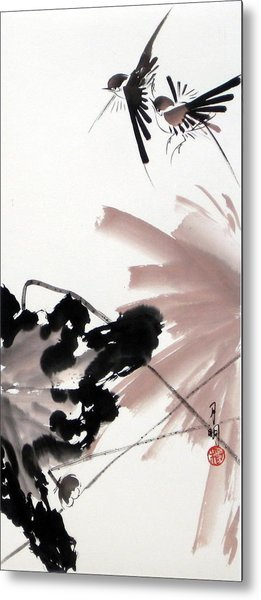 Nesting From Dawn To Dusk Metal Print by Ming Yeung
