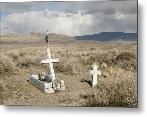 Nevada Grave Metal Print