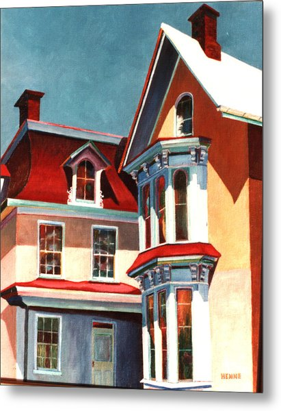 Metal Print featuring the painting New Light On The Past by Robert Henne