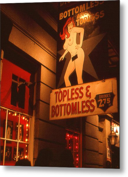 New Orleans Topless Bottomless Sexy Metal Print