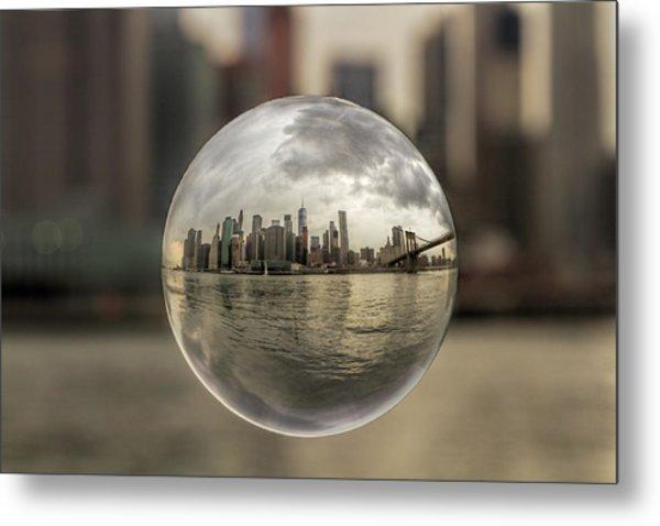 New York Bubble Metal Print by Zev Steinhardt