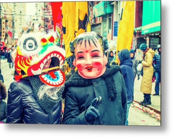 New York Chinatown Metal Print