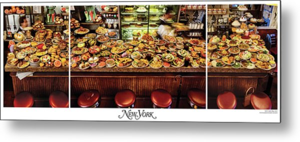 The New York Diner Metal Print