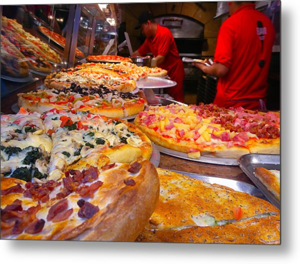 New York Pizza Metal Print