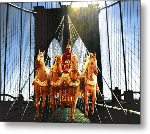 New York Time Machine - Fantasy Art Metal Print