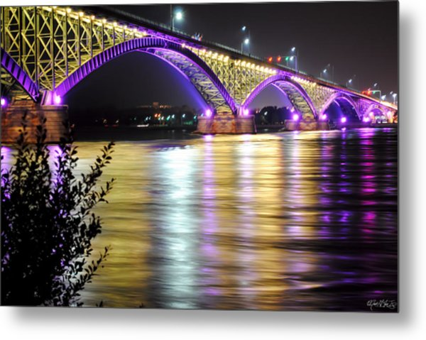Night Walk On The Break Wall Metal Print