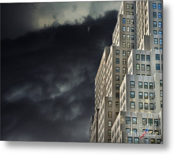 Nightfall In The City Metal Print
