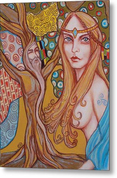Nimue And Merlin Metal Print by Tammy Mae Moon