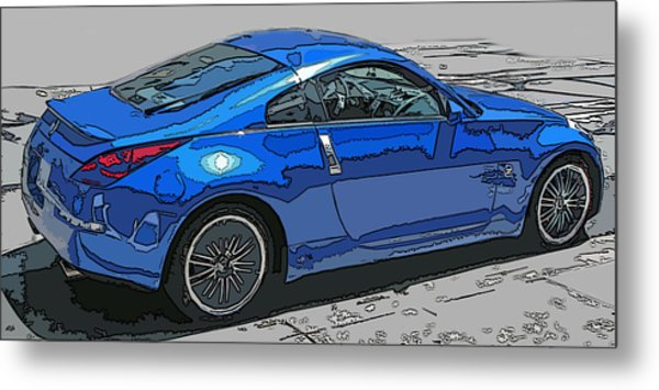Nissan Z Car Metal Print