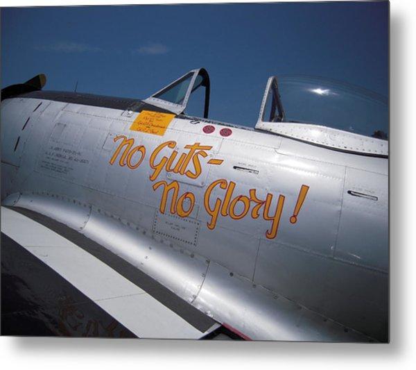 No Guts - No Glory P-47 Metal Print