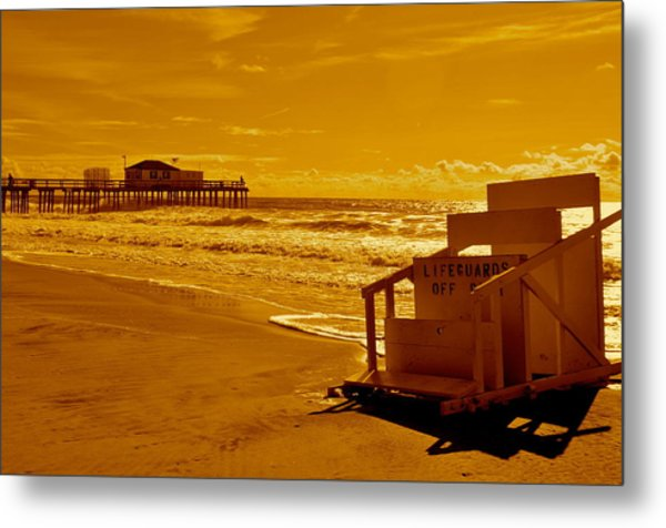 No Lifeguard Metal Print