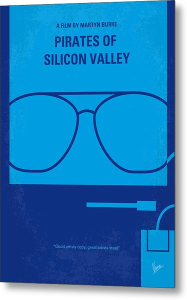 No064 My Pirates Of Silicon Valley Minimal Movie Poster Metal Print