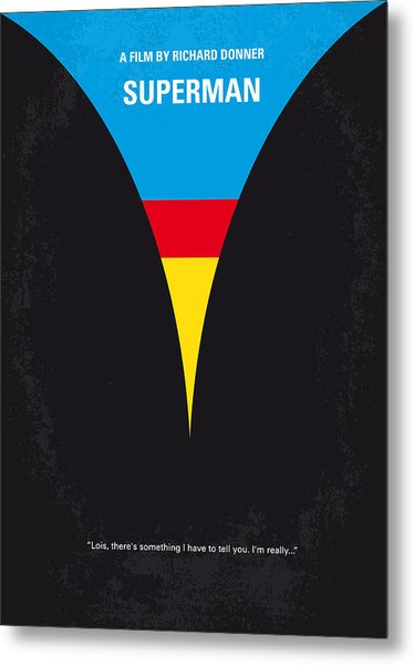 No086 My Superman Minimal Movie Poster Metal Print
