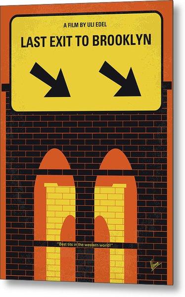 No879 My Last Exit To Brooklyn Minimal Movie Poster Metal Print