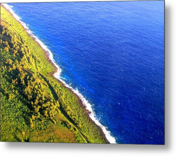 North Coast Of Tinian At Sunrise Metal Print