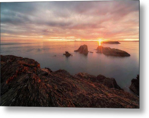 North Puget Sound Sunset Metal Print