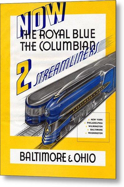 Now The Royal Blue The Columbian Metal Print