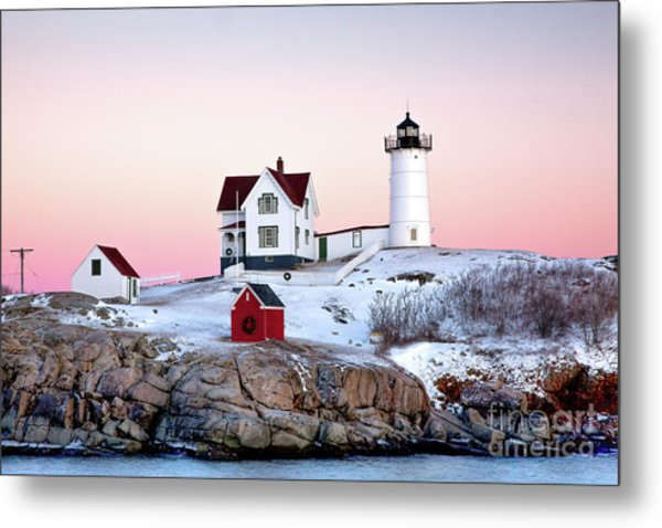 Nubble Glow Metal Print
