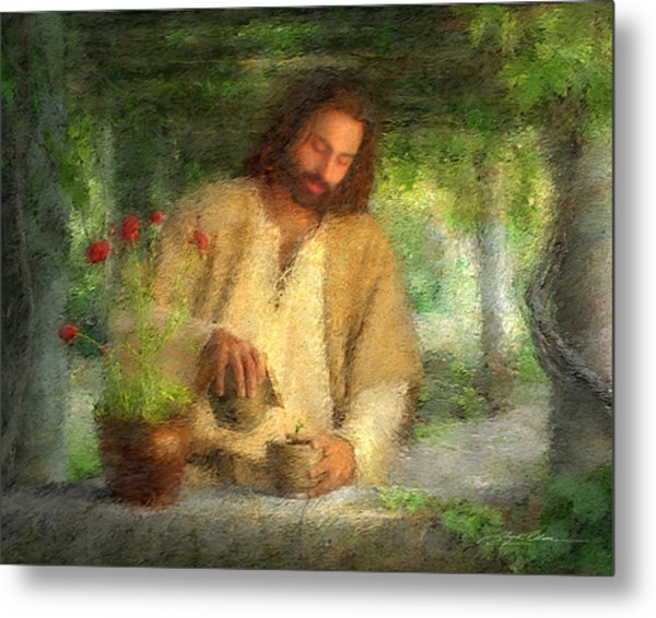 Metal Print featuring the painting Nurtured By The Word by Greg Olsen