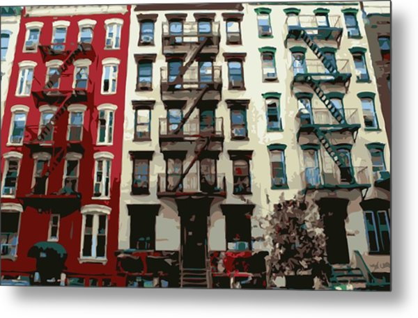 Nyc Apartment Color 16 Metal Print