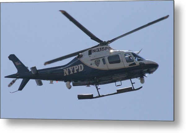 Nypd Aviation Unit Metal Print