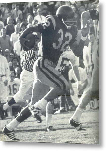 O J Simpson - Rose Bowl 1969 Metal Print