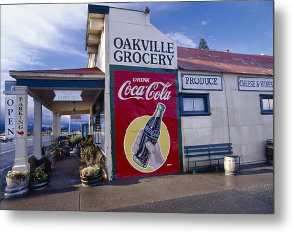 Oakville Grocery Store Napa Valley Metal Print by George Oze