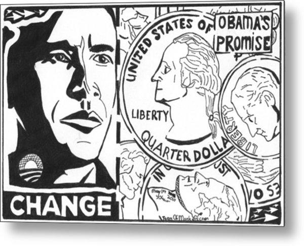 Obama's Promise Metal Print by Yonatan Frimer Maze Artist