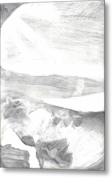 observation - Out the airplane window Metal Print by Katie Alfonsi