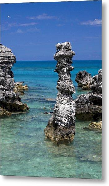 Ocean Rock Formations Metal Print