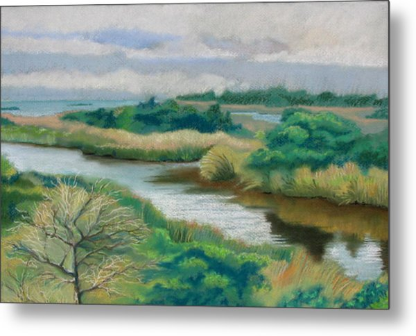 Ocracoke Afternoon Metal Print by Shirley Galbrecht