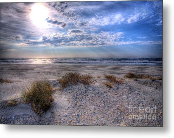 Ocracoke Winter Dunes II Metal Print
