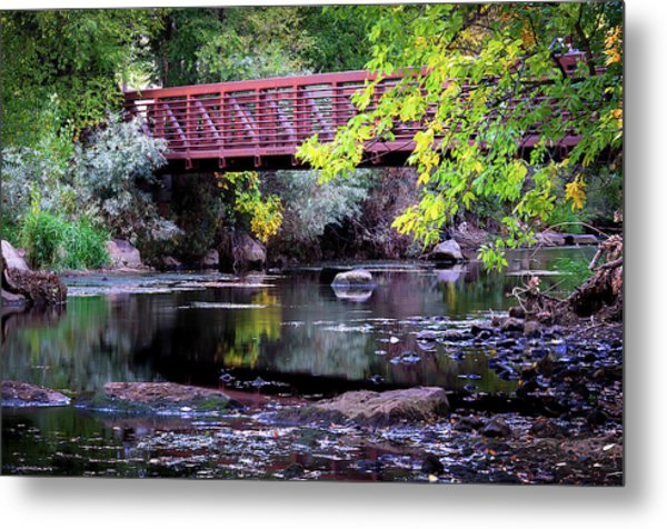 Ogden River Bridge Metal Print