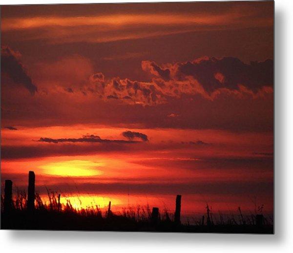 Oklahoma Sky At Daybreak  Metal Print