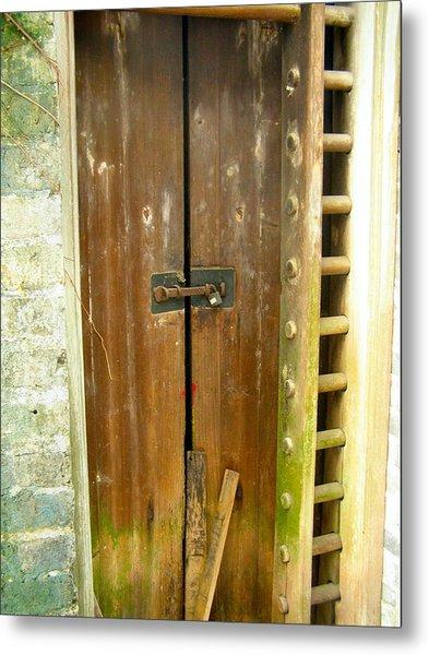 Old Chinese Village Door Series Eight Metal Print by Kathy Daxon