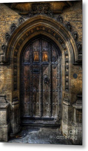 Old College Door - Oxford Metal Print
