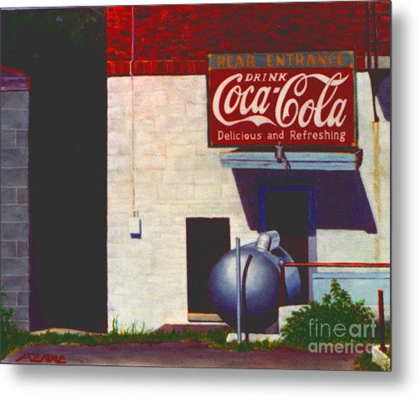 Metal Print featuring the painting Old Deli by Robert Henne