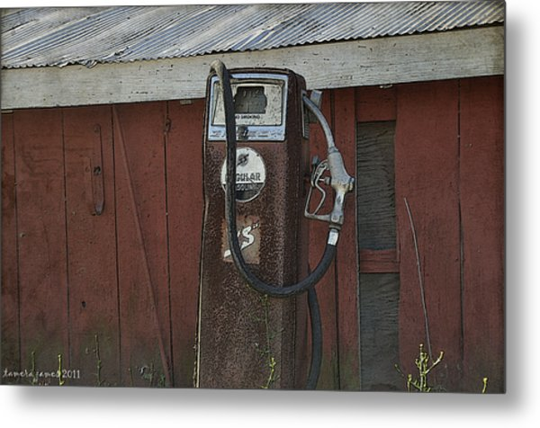 Old Farm Pump Metal Print