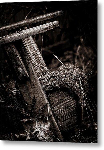 Old Garden Chair. Metal Print