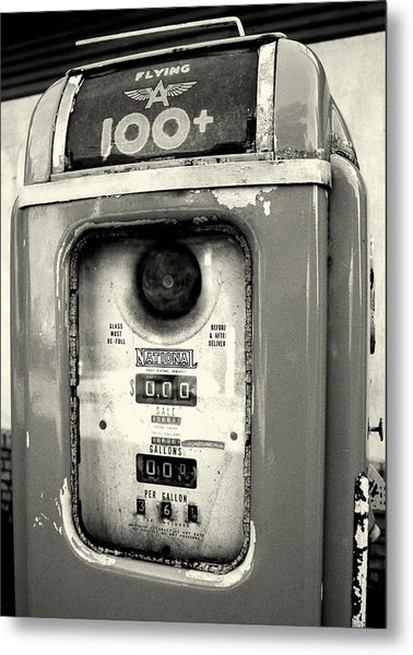 Old Gas Pump Metal Print by DazzleMePhotography