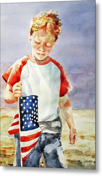 Old Glory Forever Young Metal Print