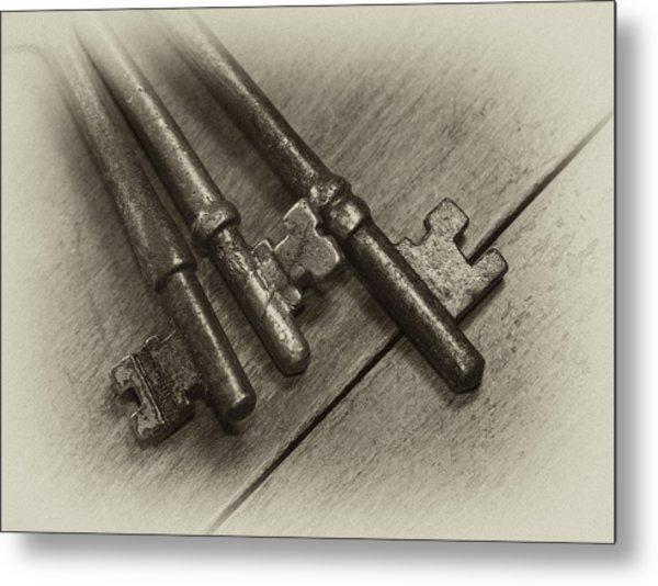 Old House Keys Metal Print